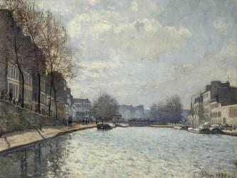 Vue du canal Saint-Martin, Paris (Sisley Alfred) - Muzeo.com
