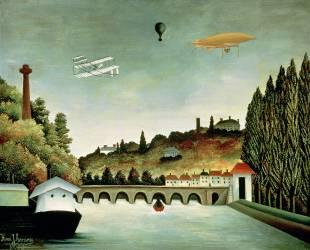 Vue du pont de Sèvres (Henri Rousseau (dit le...) - Muzeo.com