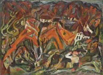 Vue sur le village (Chaïm Soutine) - Muzeo.com