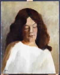 Young Woman with her Hair Down (Paula Modersohn-Becker) - Muzeo.com