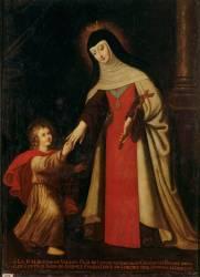 Portrait de sainte Jeanne de France (1464-1505) (Anonyme) - Muzeo.com