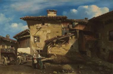 Cour de fermes (Marilhat Prosper) - Muzeo.com