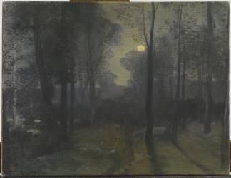Dans la forêt, la nuit (Galland Pierre-Victor) - Muzeo.com
