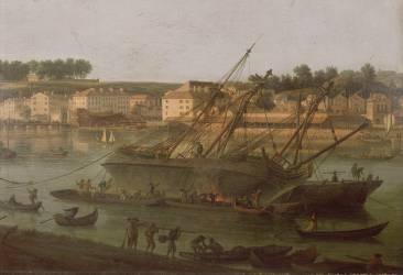 Reproductions d 39 art vernet joseph muz o - Vue du port de bordeaux joseph vernet ...