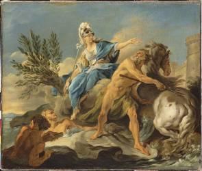 Dispute de Minerve et Neptune pour donner un nom à la ville d'Athènes (Halle Noël) - Muzeo.com