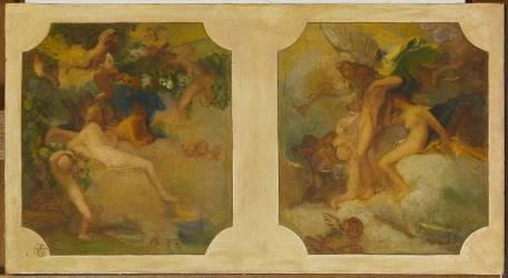 Double projet de décor (Galland Pierre-Victor) - Muzeo.com
