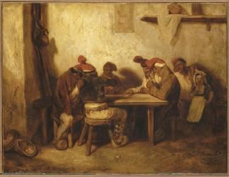 Espagnols jouant aux cartes, dit aussi Les Catalans (Decamps Alexandre Gabriel) - Muzeo.com