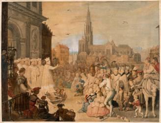 Fondation par Saint Norbert de l'abbaye Saint-Michel d'Anvers en 1124 (Meulemans Adrian) - Muzeo.com
