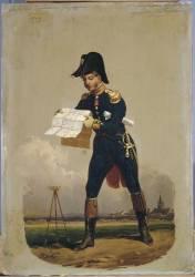 Ingénieur-géographe ayant rang de capitaine, 1808 (Lecomte Hippolyte) - Muzeo.com