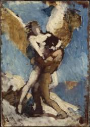 Jacob et l'Ange (esquisse) (Bonnat Léon Joseph Florentin) - Muzeo.com