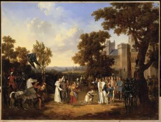 Jeanne d'Arc et Charles VII (Lecomte Hippolyte) - Muzeo.com