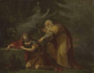 Le désespoir de Cuthullin (Auguste Couder) - Muzeo.com