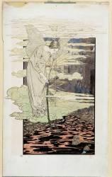 Le Rêve : femme ailée se penchant (Carlos Schwabe) - Muzeo.com