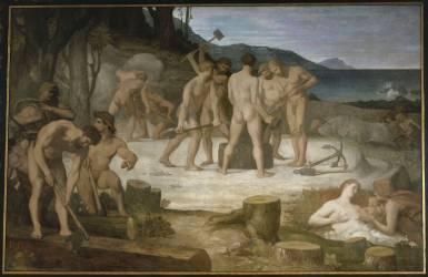 Le travail (Pierre Puvis de Chavannes) - Muzeo.com