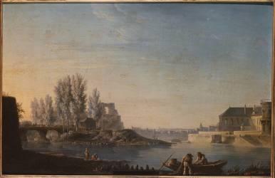 L'île Louviers et la Pointe de l'île de Saint-Louis (Alexandre-Jean Noël) - Muzeo.com