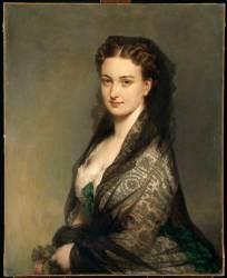 L'inconnue à la mantille (Franz Xaver Winterhalter) - Muzeo.com