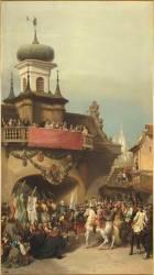 Maurice de Saxe remet les clefs de la ville de Prague à l'électeur de Bavière le 26 novembre 1741 (Auguste Couder) - Muzeo.com