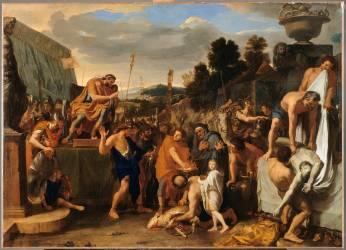 Mucius Scaevola devant Porsenna (Charles Le Brun) - Muzeo.com