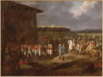 Napoléon Ier se faisant présenter à Astorga des prisonniers anglais (Lecomte Hippolyte) - Muzeo.com