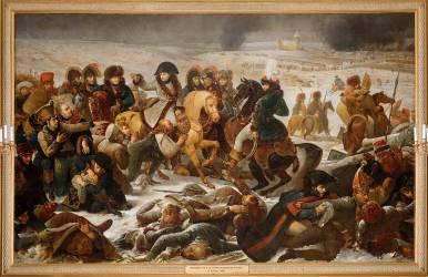 Napoléon Ier sur le champ de bataille d'Eylau le 9 février 1807 (Jean-Baptiste Mauzaisse) - Muzeo.com