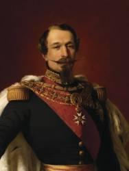 Napoléon III, empereur des Français (1808-1873) , Portrait officiel en 1855 (,D'après Winterhalter Franz...) - Muzeo.com