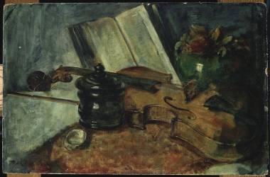 Nature morte au violon (Makart Hans) - Muzeo.com