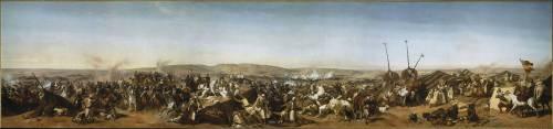 Prise de la Smala d'Abd-el-Kader par le duc d'Aumale à Taguin, le 16 mai 1843 (Horace Vernet) - Muzeo.com