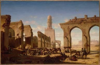 Ruines de la mosquée du khalife Hakem au Caire (Marilhat Prosper) - Muzeo.com