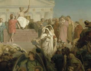 Siècle d'Auguste : naissance de N.S. Jésus Christ (Gerôme Jean Léon) - Muzeo.com