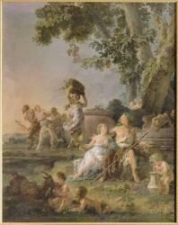 Triomphe de Bacchus et paysans cultivant les raisins (Halle Noël) - Muzeo.com