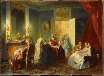 Un après-dîner au XVIIIe (Auguste Couder) - Muzeo.com