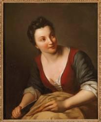 Une Cuisinière (Jean-Baptiste Santerre) - Muzeo.com
