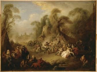 Une fête champêtre. Réjouissance de soldats (Pater Jean-Baptiste) - Muzeo.com