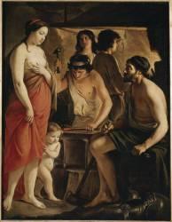 Vénus dans la forge de Vulcain (Le Nain Louis) - Muzeo.com