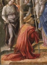 Vierge à l'Enfant entourés d'anges et de saints (Filippino Lippi) - Muzeo.com