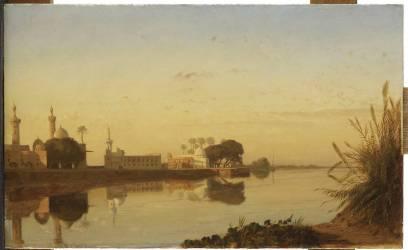 Vue du Nil de Basse-Egypte (Marilhat Prosper) - Muzeo.com