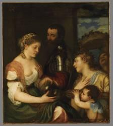 Allégorie dite d'Alphonse d'Avalos, marquis del Vasto (Titien (dit), Vecellio Tiziano) - Muzeo.com