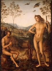 Apollon et Marsyas (Pérugin (dit), Vannuci Pietro...) - Muzeo.com