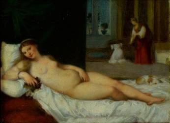 Copie d'après Titien : la Vénus du Pardo (Jean-Jacques Henner) - Muzeo.com