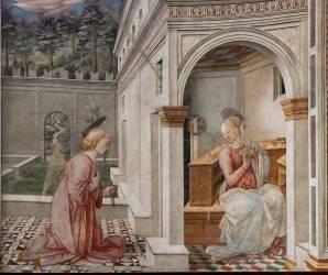Détail de l'Annonciation (Filippo Lippi) - Muzeo.com