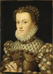 Elisabeth d'Autriche (1554-1592), reine de France, femme de Charles IX (François Clouet) - Muzeo.com