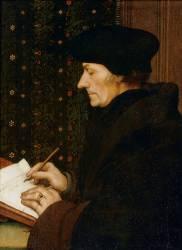 Erasme écrivant (1467-1536) (Hans Holbein le Jeune) - Muzeo.com