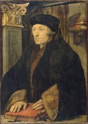 Erasme, les mains posées sur un livre (,D'après Holbein Hans, le...) - Muzeo.com