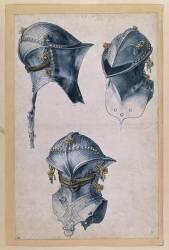 Etude de trois casques (Albrecht Dürer) - Muzeo.com