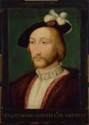 François de Compey, seigneur de Gruffy, dit le beau Gruffy, écuyer de François Ier (?-Naples?) (François Clouet (d'après)) - Muzeo.com