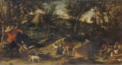 La chasse (Carrache Annibale) - Muzeo.com