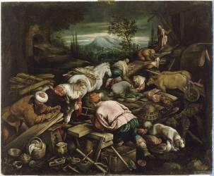 La construction de l'Arche (Bassano Gerolamo (dit),...) - Muzeo.com