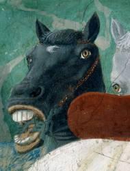 La Légende de la Vraie Croix : la Réception de la Reine de Saba par le roi Salomon (Piero della Francesca) - Muzeo.com