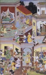 La naissance de Timur, (page de l'Akbar Nameh par Shiv Das et Miskina) (Anonyme) - Muzeo.com