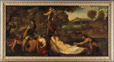 La Vénus du Pardo, dit à tort Jupiter et Antiope (Titien (dit) Vecellio Tiziano) - Muzeo.com